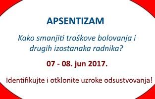 Dvodnevni seminar u Beogradu – kako postati certificirani stručnjak za smanjenje bolovanja i drugih izostanaka